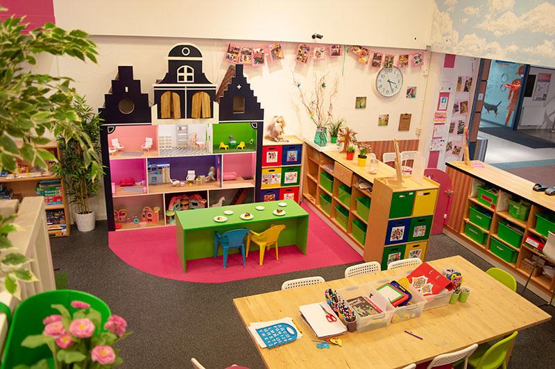 het poppenhuis in de Speelwinkel van Nannies